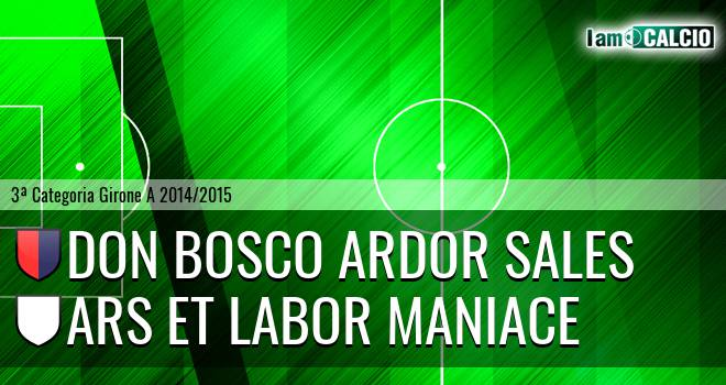 Don Bosco Ardor Sales - Ars Et Labor Maniace