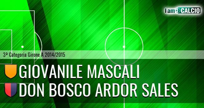 Giovanile Mascali - Don Bosco Ardor Sales