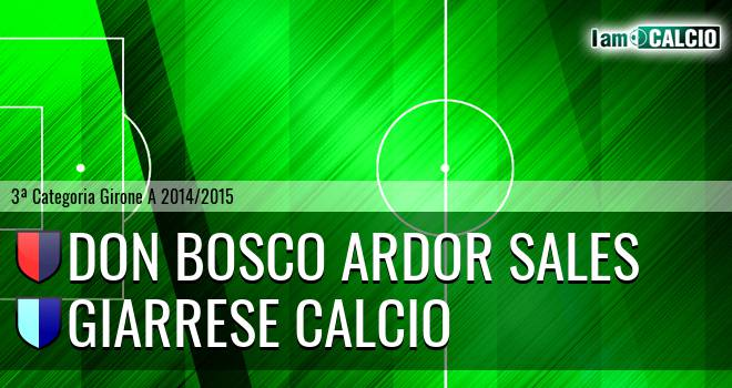 Don Bosco Ardor Sales - Giarrese Calcio