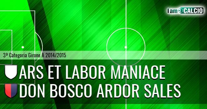 Ars Et Labor Maniace - Don Bosco Ardor Sales