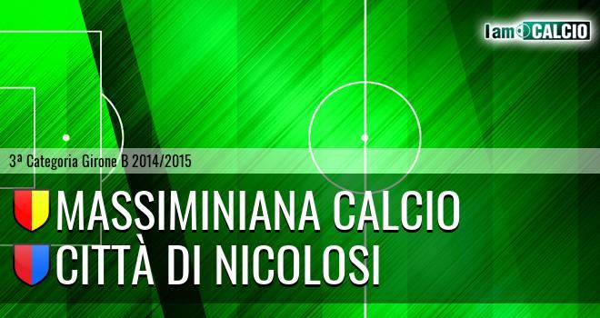 Massiminiana Calcio - Città di Nicolosi