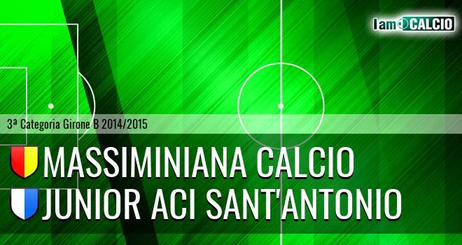 Massiminiana Calcio - Junior Aci Sant'Antonio
