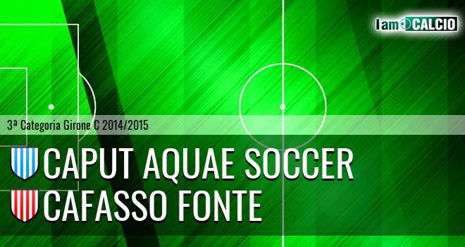 Caput Aquae Soccer - Cafasso Fonte