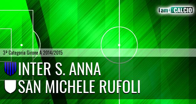 Inter S. Anna - San Michele Rufoli