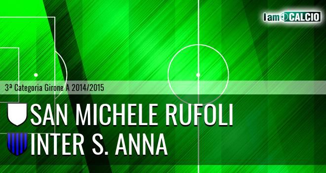 San Michele Rufoli - Inter S. Anna