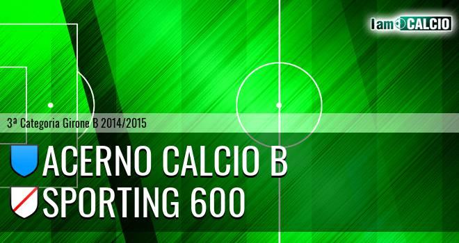 Acerno Calcio B - Sporting 600
