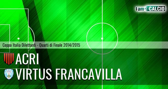 Acri - Virtus Francavilla 0-1. Cronaca Diretta 04/03/2015