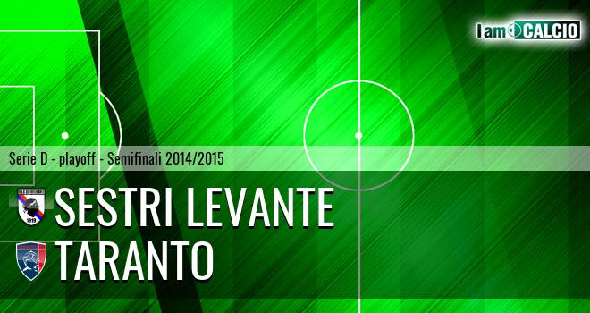 Sestri Levante - Taranto 3-1. Cronaca Diretta 10/06/2015