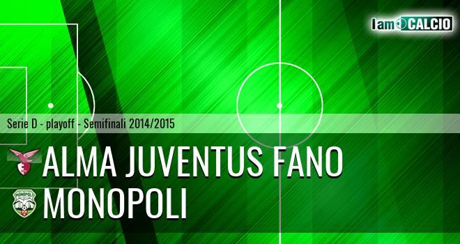Alma Juventus Fano - Monopoli 0-2. Cronaca Diretta 10/06/2015