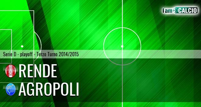 Rende - Agropoli 0-0. Cronaca Diretta 24/05/2015