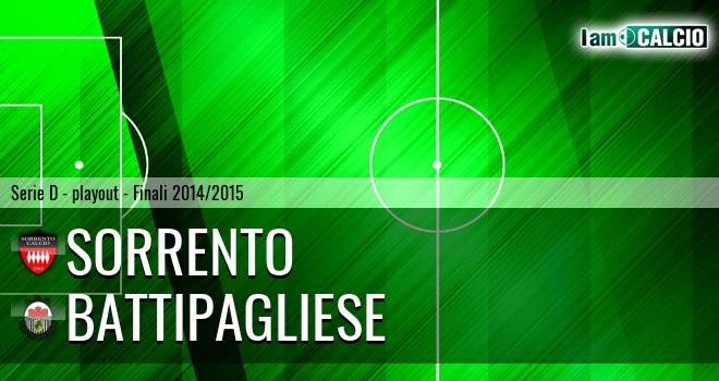 Sorrento - Battipagliese 1-2. Cronaca Diretta 24/05/2015