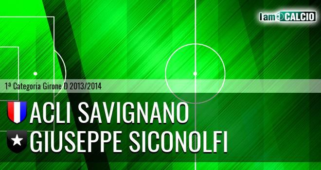 Acli Savignano - Giuseppe Siconolfi