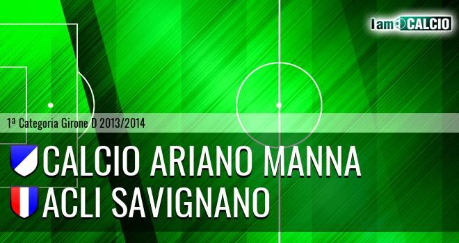 Calcio Ariano Manna - Acli Savignano