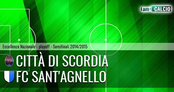Città di Scordia - FC Sant'Agnello 3-1. Cronaca Diretta 24/05/2015