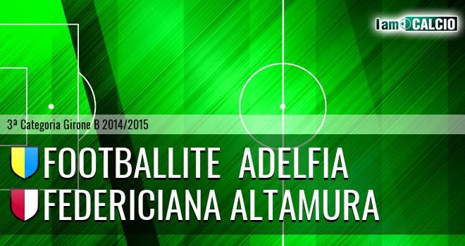 Footballite  Adelfia - Federiciana Altamura