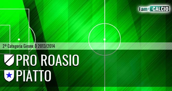 Pro Roasio - Piatto 1-1. Cronaca Diretta 13/04/2014