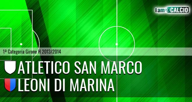 Atletico San Marco - Leoni di Marina