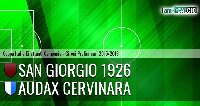 San Giorgio 1926 - Audax Cervinara