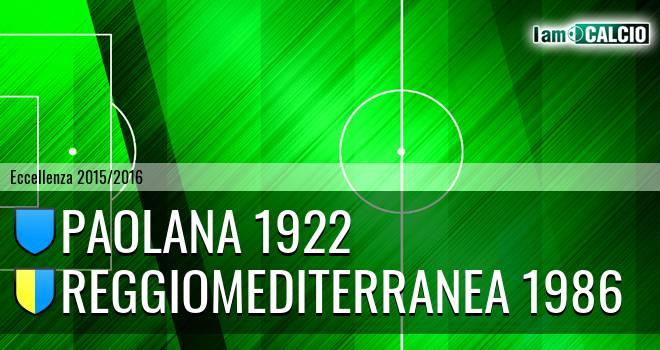 Paolana 1922 - Reggiomediterranea 1986