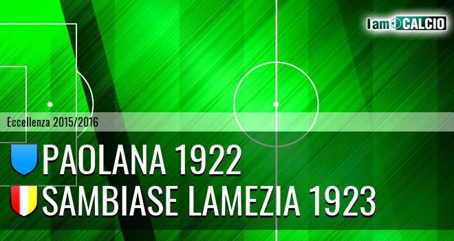Paolana 1922 - Sambiase Lamezia 1923