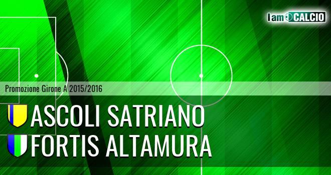 Ascoli Satriano - Fortis Altamura