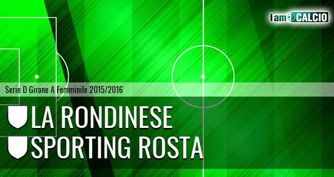 La Rondinese - Sporting Rosta