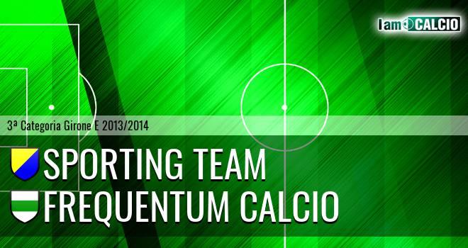 Sporting Team Maroso - Frequentum Calcio
