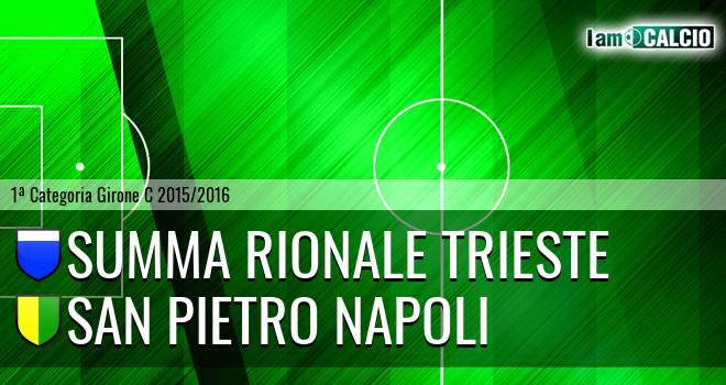 Summa Rionale Trieste - San Pietro Napoli