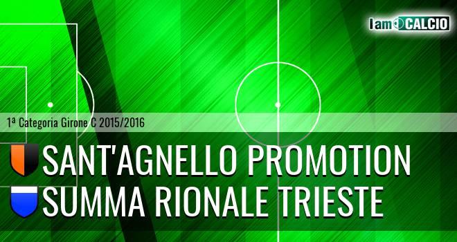 Sant'Agnello Promotion - Summa Rionale Trieste