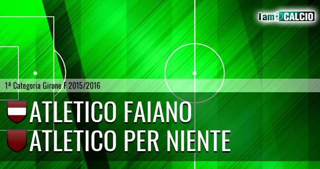 Atletico Faiano - Atletico Per Niente