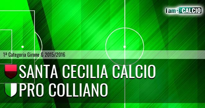 Santa Cecilia Calcio - Pro Colliano