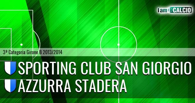Sporting Club San Giorgio - Azzurra Stadera