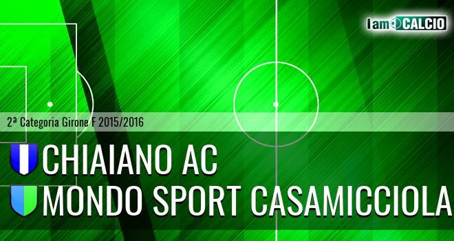 Chiaiano AC - Mondo Sport Casamicciola Terme