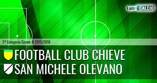 Football Club Chieve - San Michele Olevano