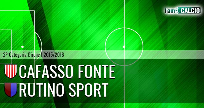 Cafasso Fonte - Rutino Sport