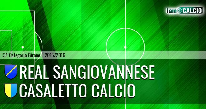Real Sangiovannese - Casaletto Calcio