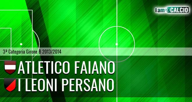 Atletico Faiano - I Leoni Persano