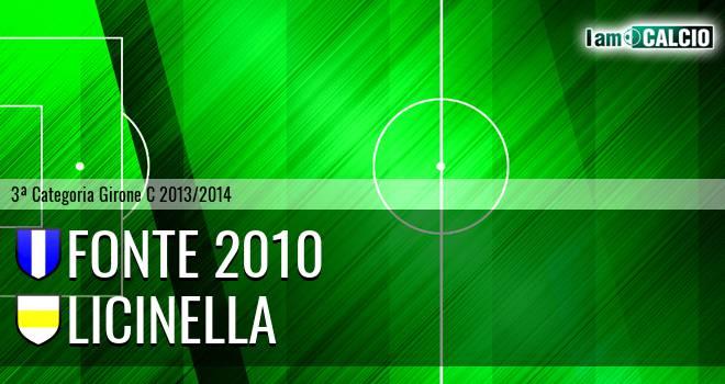 Fonte 2010 - Licinella
