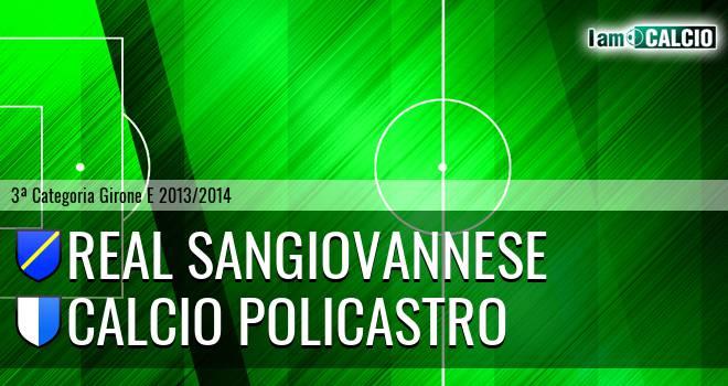 Real Sangiovannese - Calcio Policastro