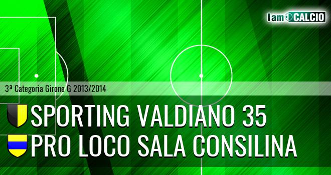 Sporting Valdiano 35 - Pro loco Sala Consilina
