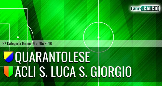 Quarantolese - Acli S. Luca S. Giorgio
