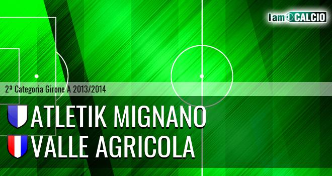 Atletik Mignano - Valle Agricola
