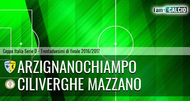 Arzignano Valchiampo - Ciliverghe Mazzano
