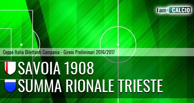 Savoia 1908 - Summa Rionale Trieste