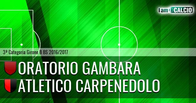 Oratorio Gambara - Atletico Carpenedolo