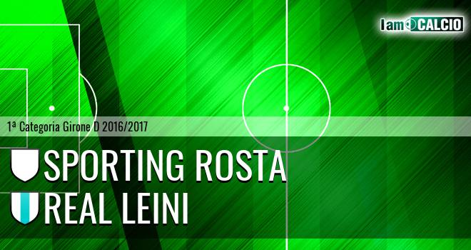 Sporting Rosta - Real Leini