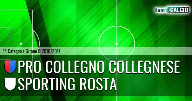 Pro Collegno Collegnese - Sporting Rosta