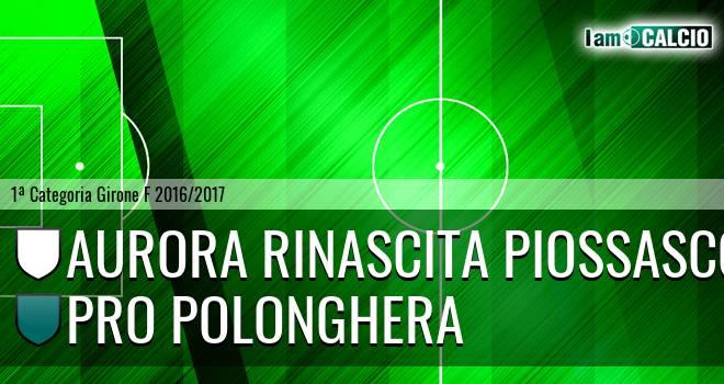 Aurora Rinascita Piossasco - Pro Polonghera