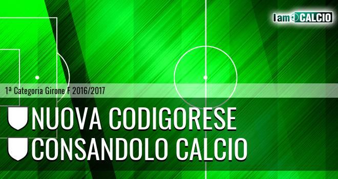 Nuova Codigorese - Consandolo Calcio