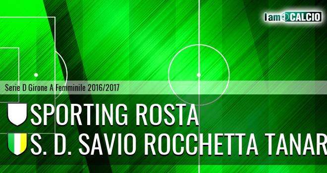 Sporting Rosta - S. D. Savio Rocchetta Tanaro